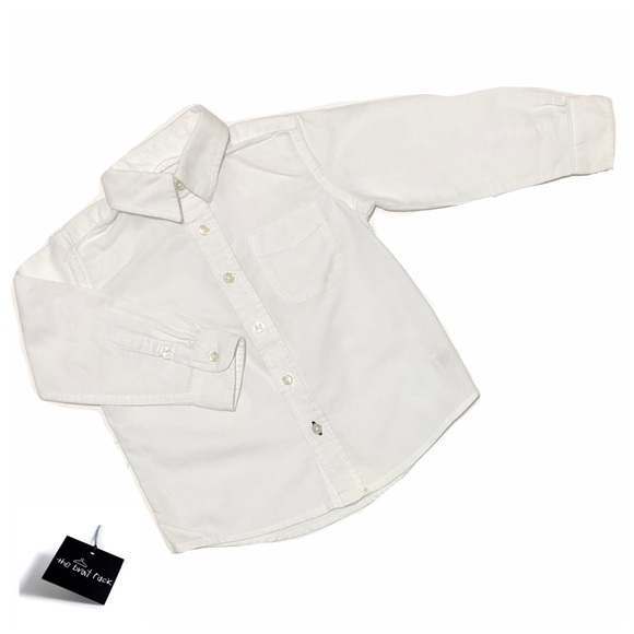 The Children's Place Other - Like New Long Sleeve White ButtonUp Dress Shirt 2T
